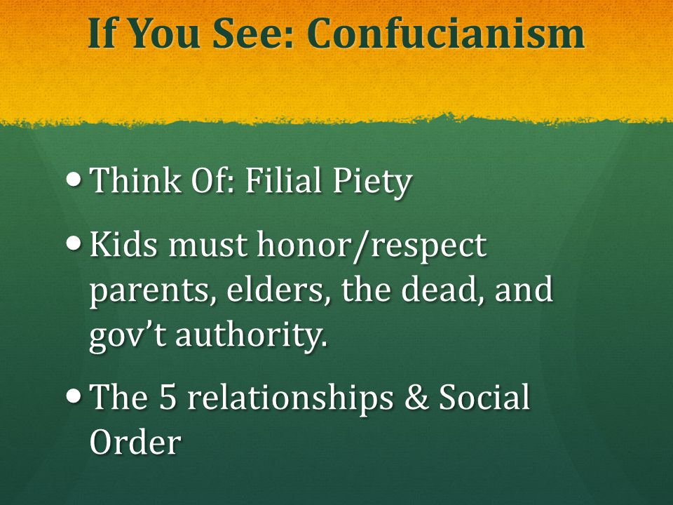 If You See: Confucianism
