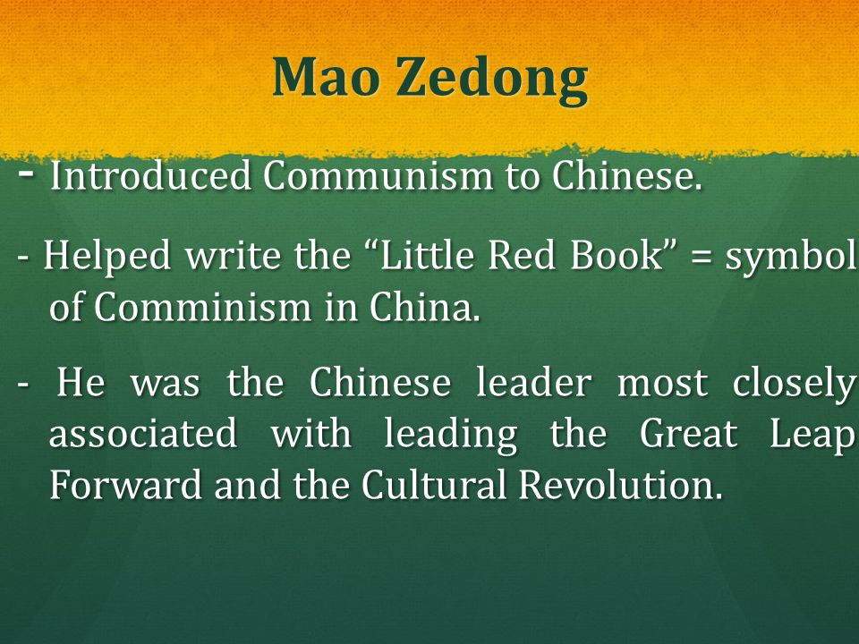 - Introduced Communism to Chinese.
