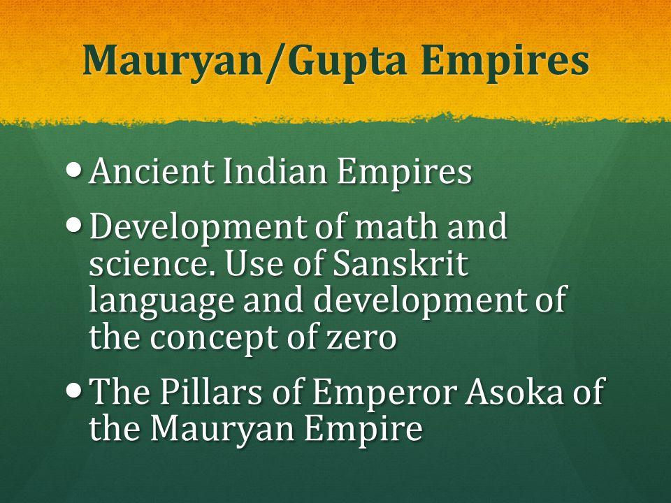 Mauryan/Gupta Empires