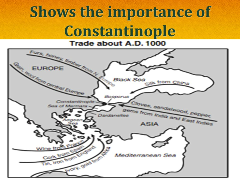 Shows the importance of Constantinople