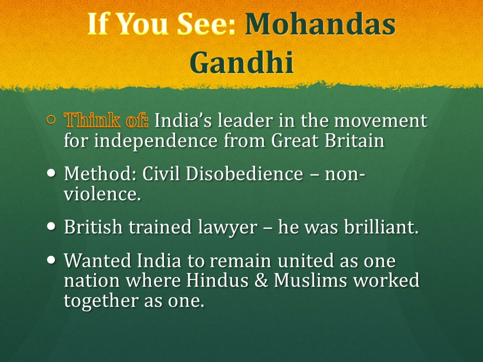 If You See: Mohandas Gandhi