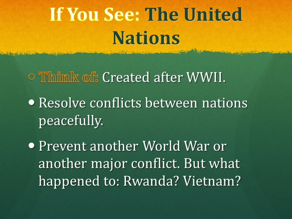If You See: The United Nations