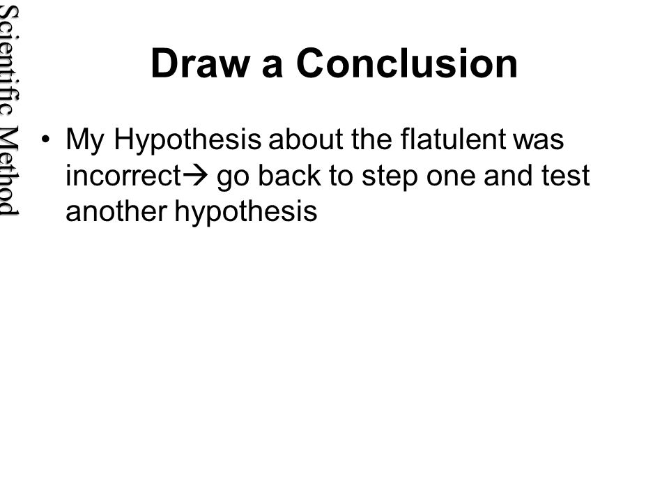 Draw a Conclusion Scientific Method