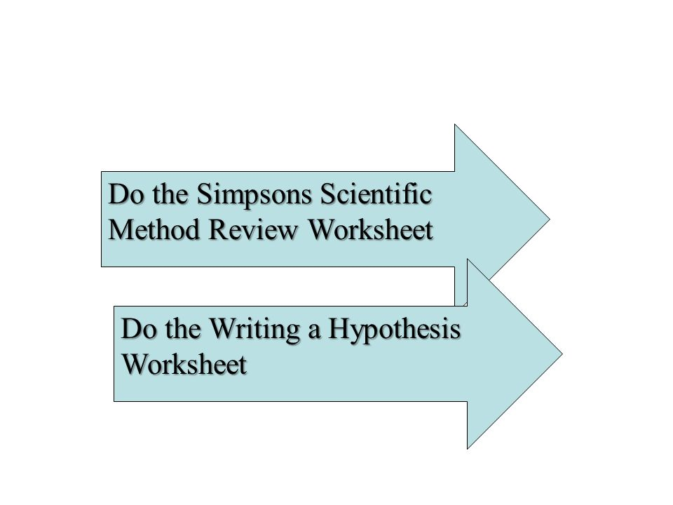 Do the Simpsons Scientific Method Review Worksheet