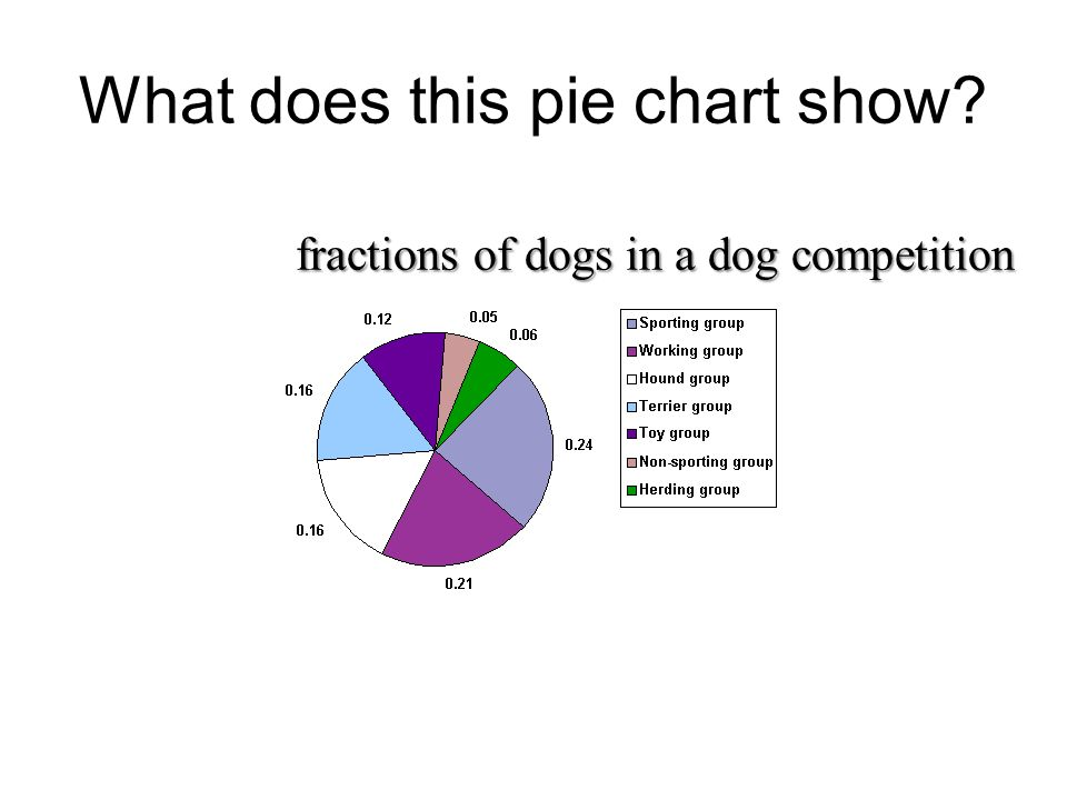 What does this pie chart show