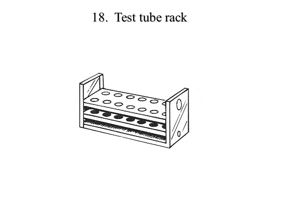 18. Test tube rack