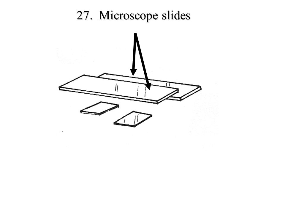 27. Microscope slides