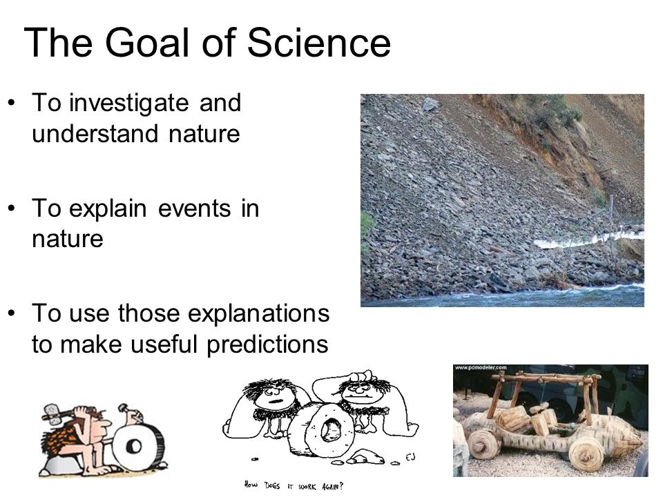 The Goal of Science To investigate and understand nature