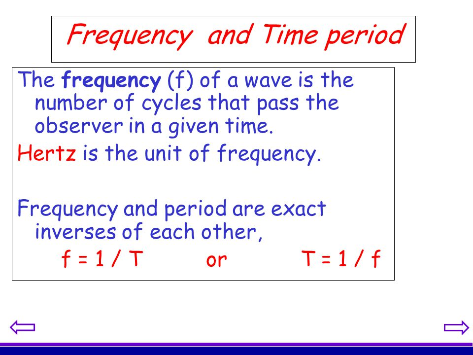 Frequency and Time period