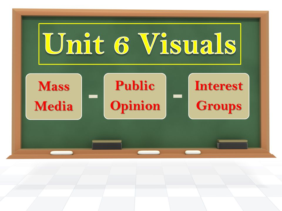 Unit 6 Visuals Mass Media Public Opinion Interest Groups