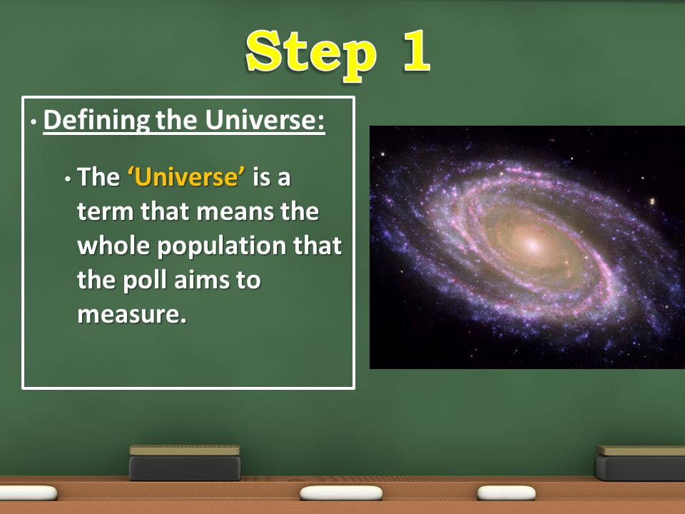 Step 1 Defining the Universe: