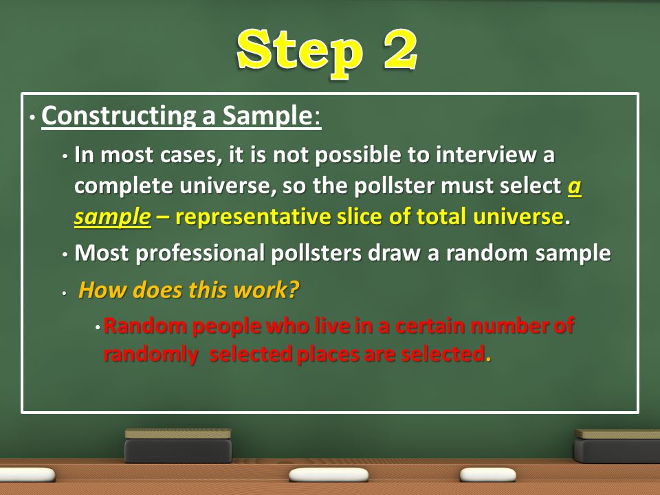 Step 2 Constructing a Sample: