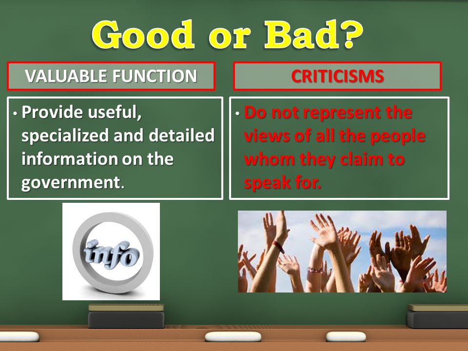 Good or Bad Valuable Function Criticisms