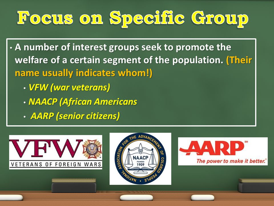 Focus on Specific Group