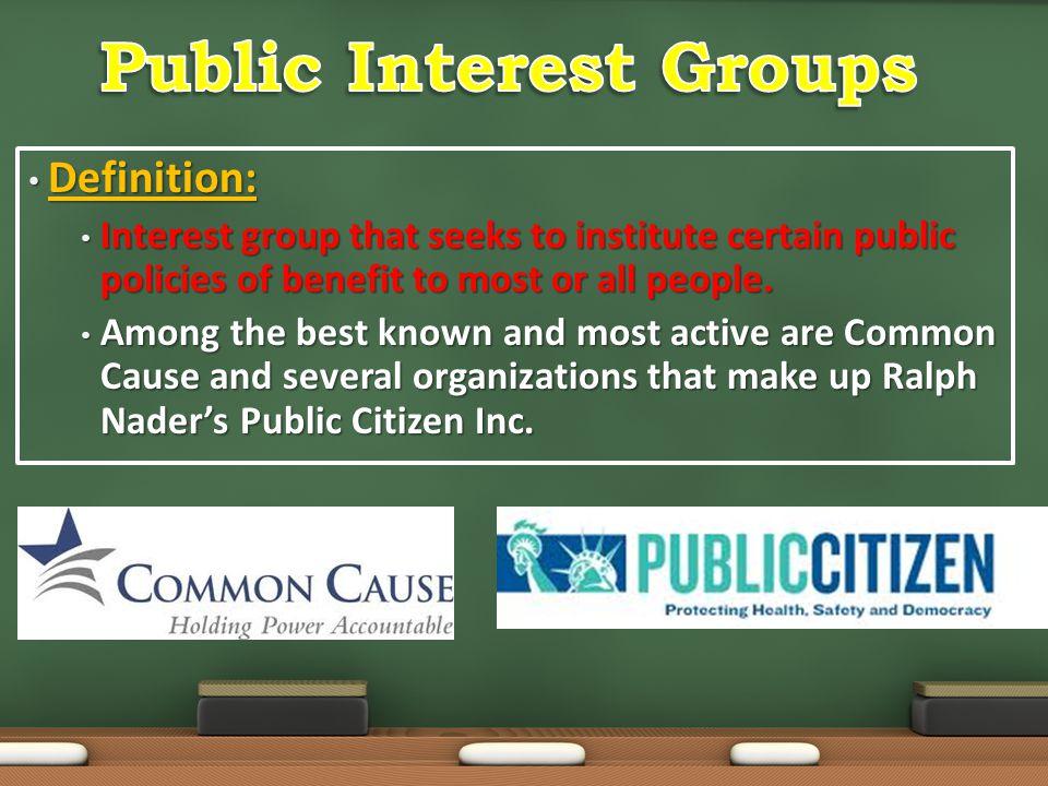 Public Interest Groups