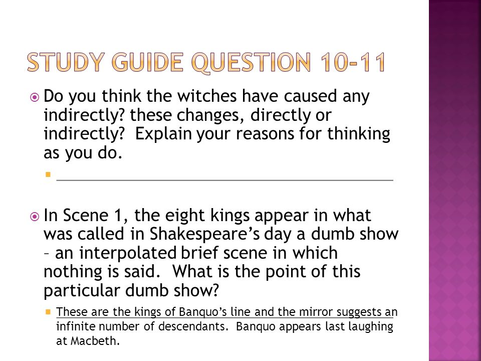 Study Guide Question 10-11