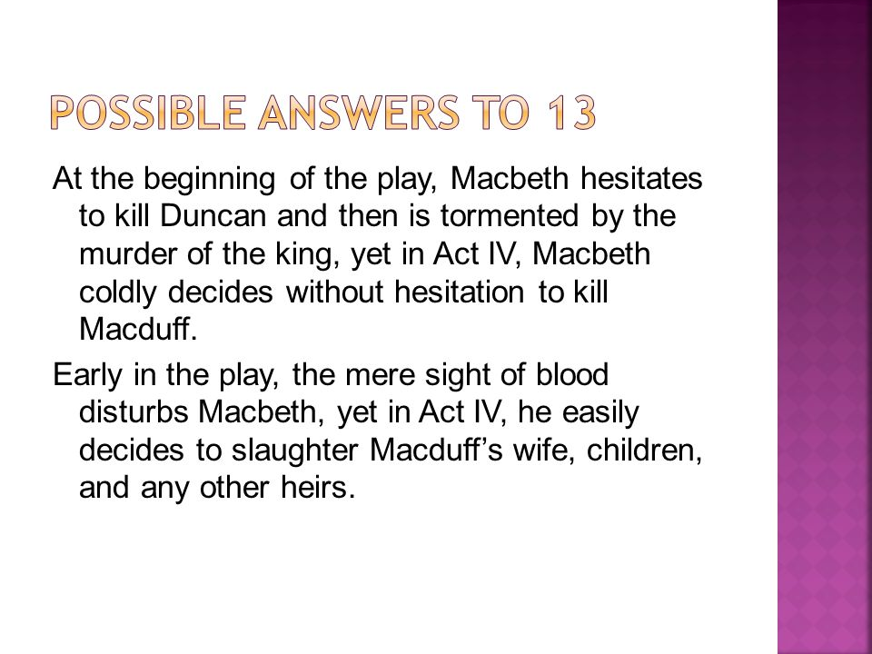 POSSIBLE ANSWERS TO 13