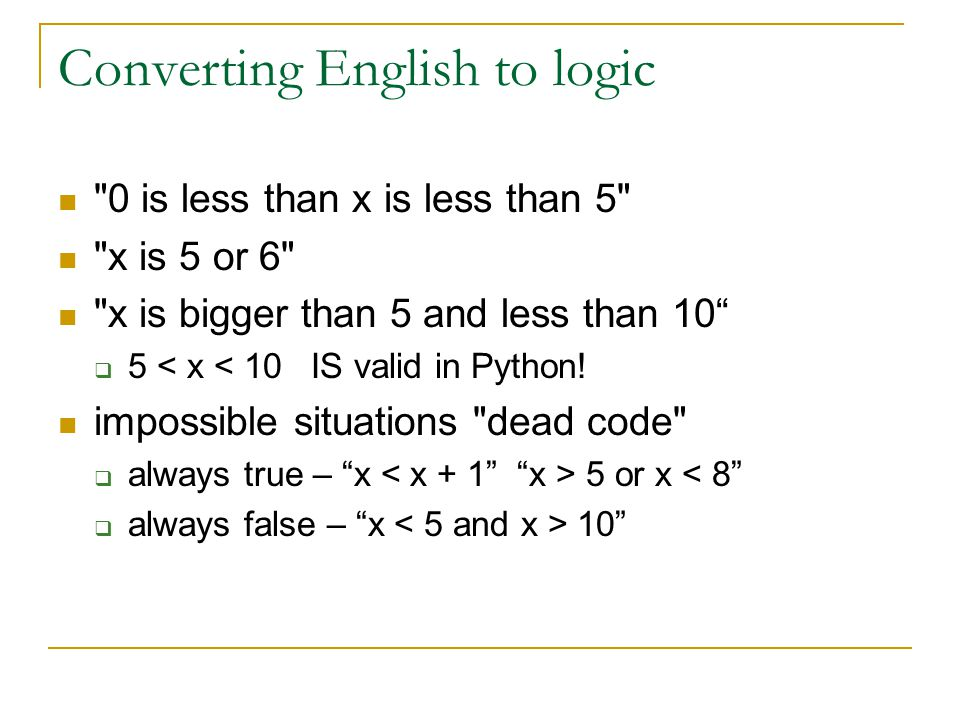 Converting English to logic