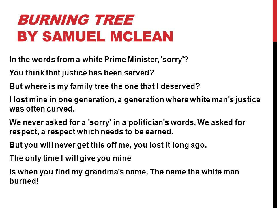 Burning tree by Samuel mclean
