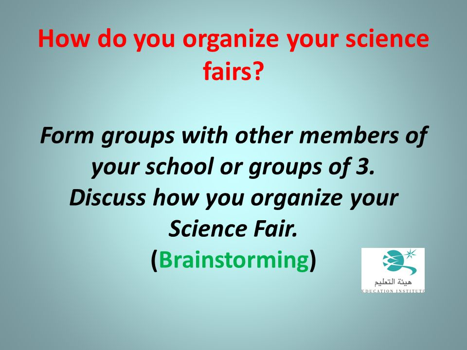 How do you organize your science fairs
