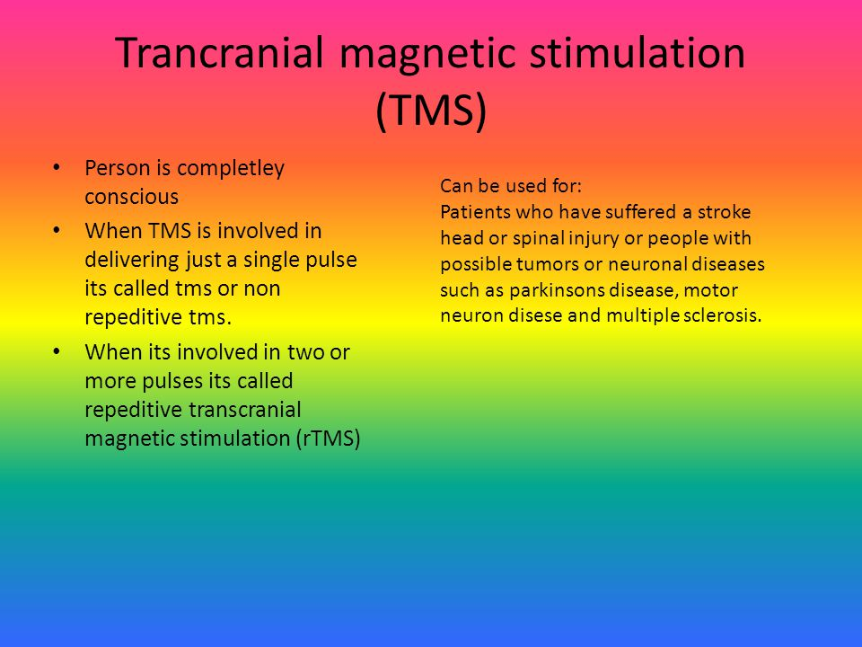 Trancranial magnetic stimulation (TMS)