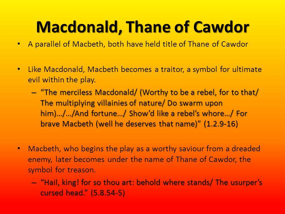 Macdonald, Thane of Cawdor