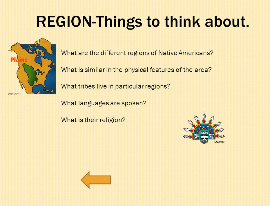 REGION-Things to think about.