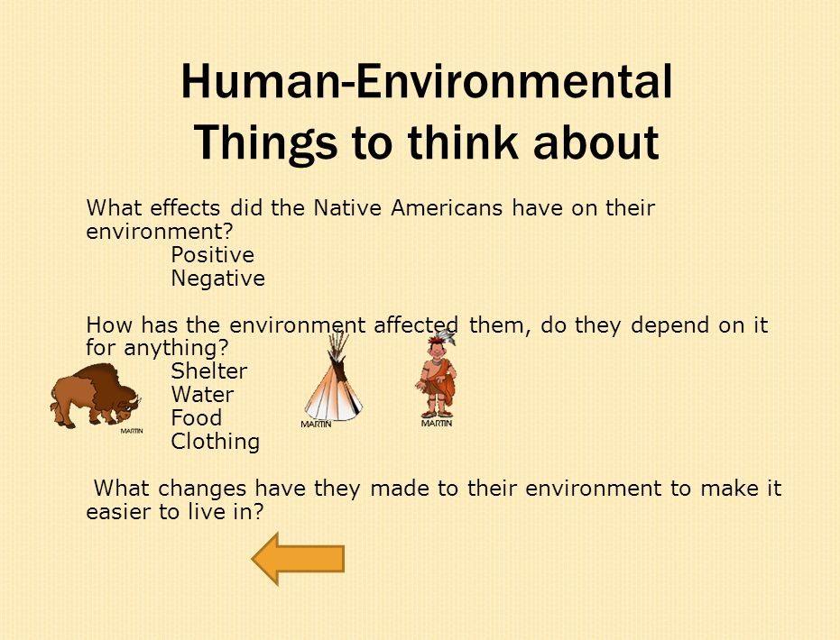 Human-Environmental Things to think about