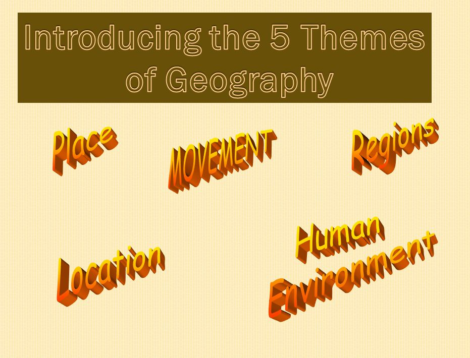 Introducing the 5 Themes