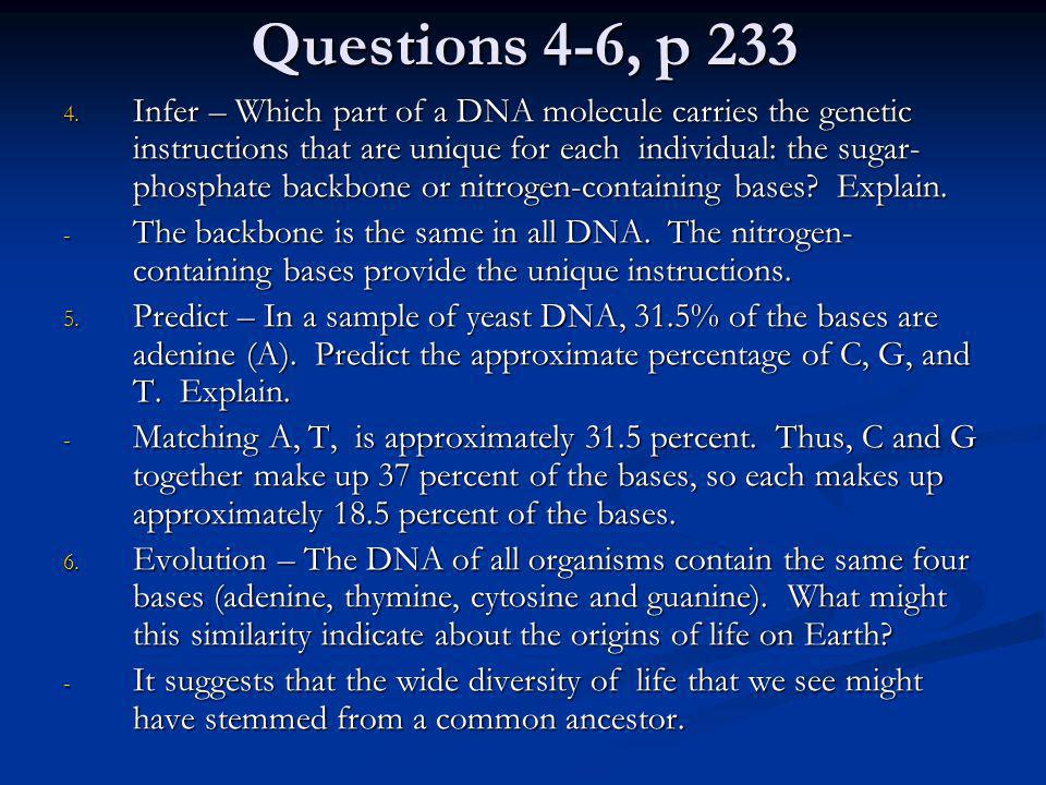 Questions 4-6, p 233