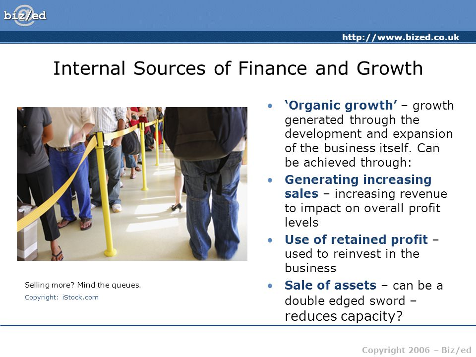 Internal Sources of Finance and Growth