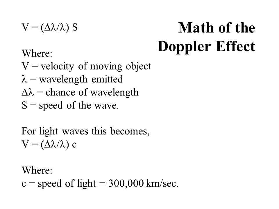 Math of the Doppler Effect