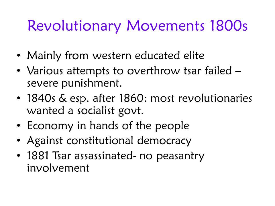 Revolutionary Movements 1800s