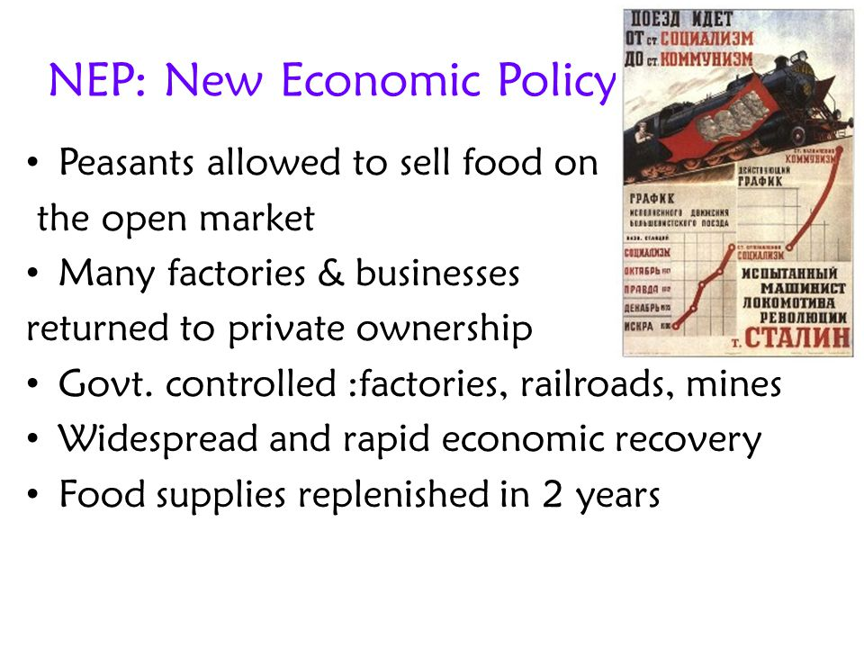 NEP: New Economic Policy