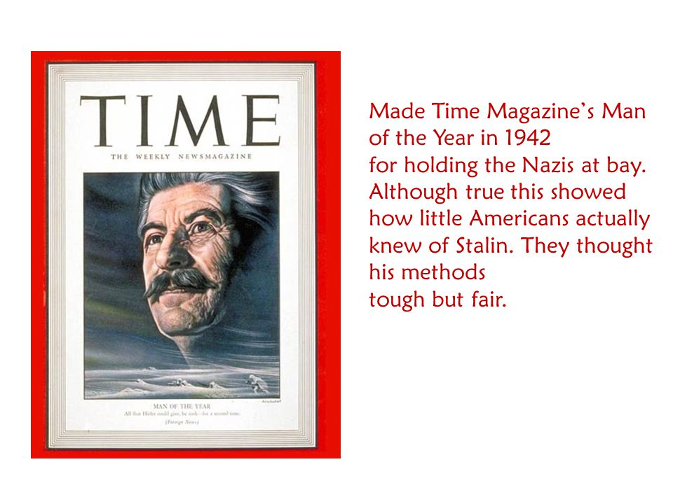 Made Time Magazine's Man of the Year in 1942