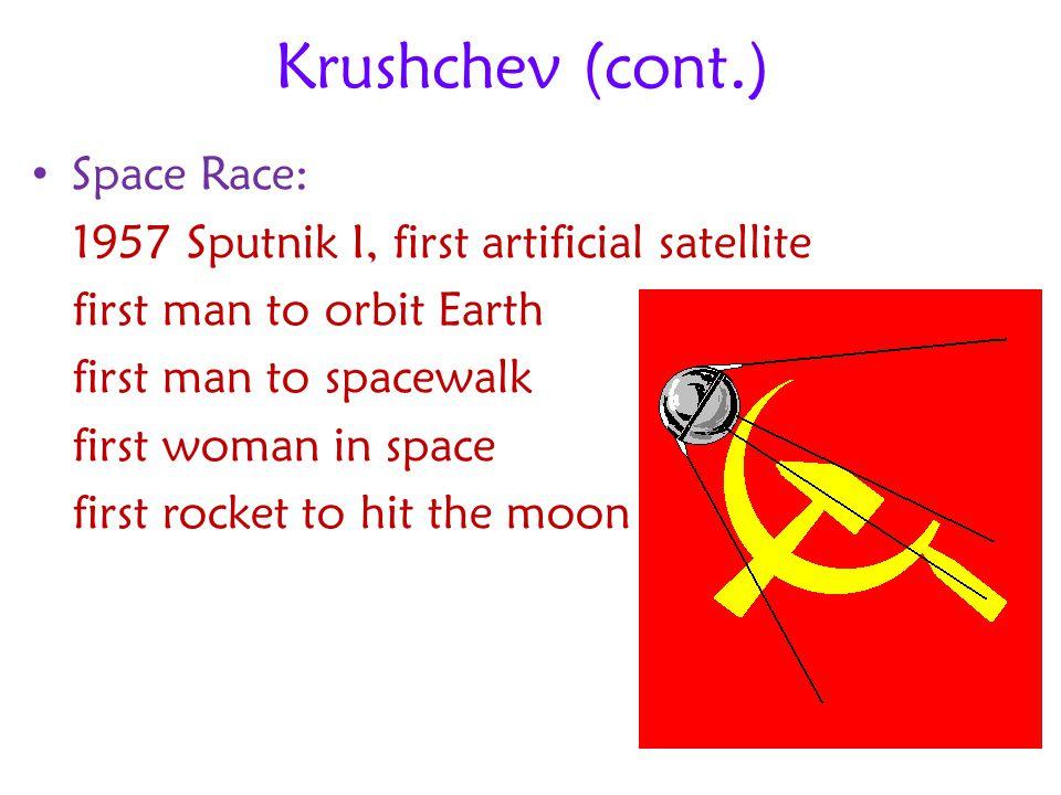 Krushchev (cont.) Space Race: