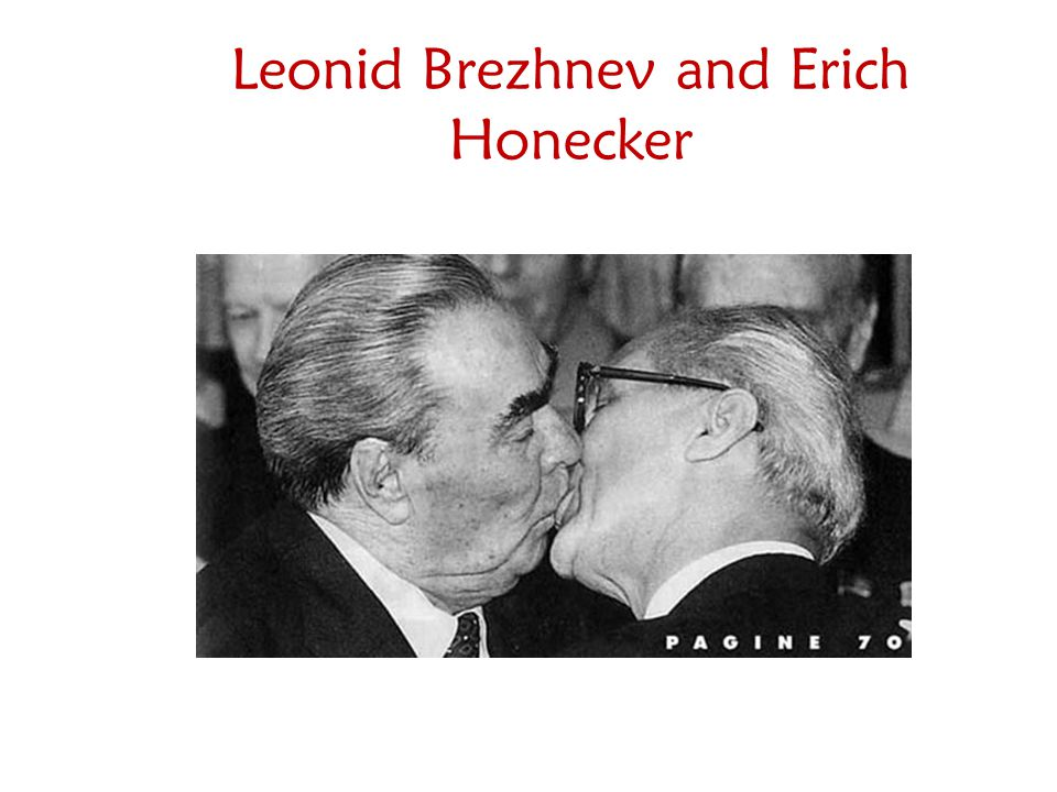 Leonid Brezhnev and Erich Honecker
