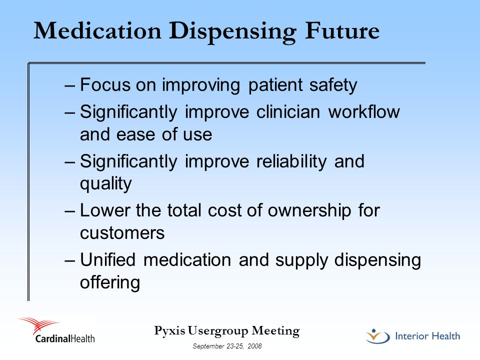Medication Dispensing Future