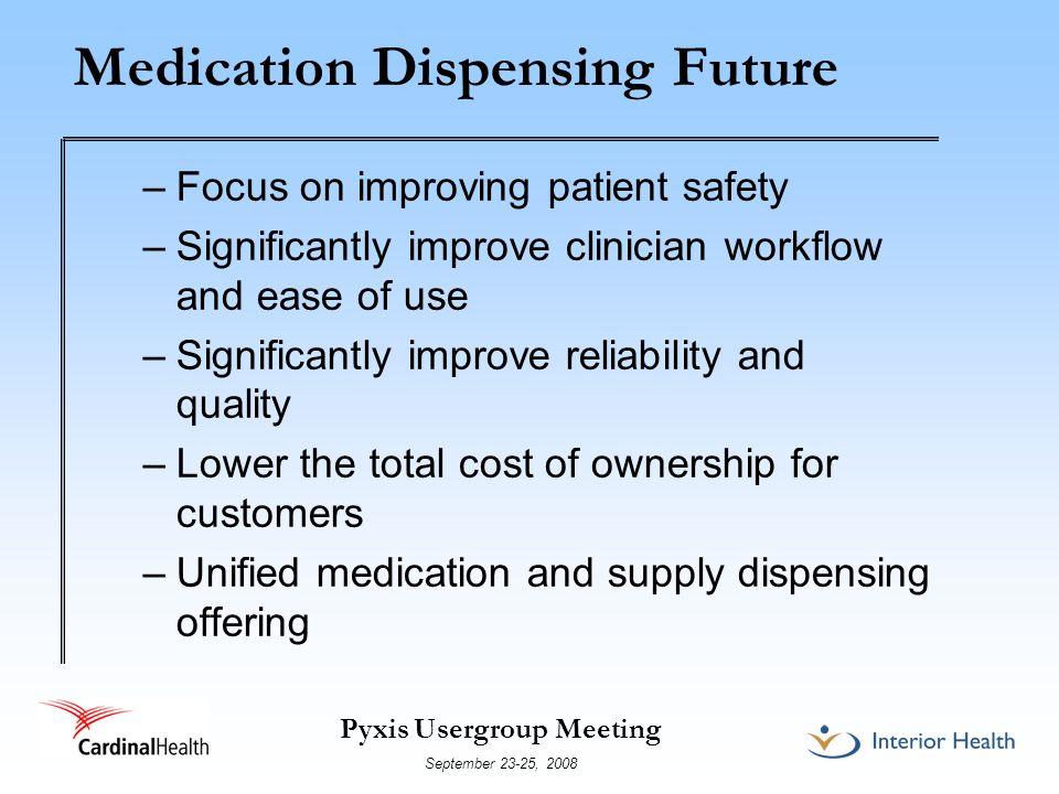 Medication Dispensing Future