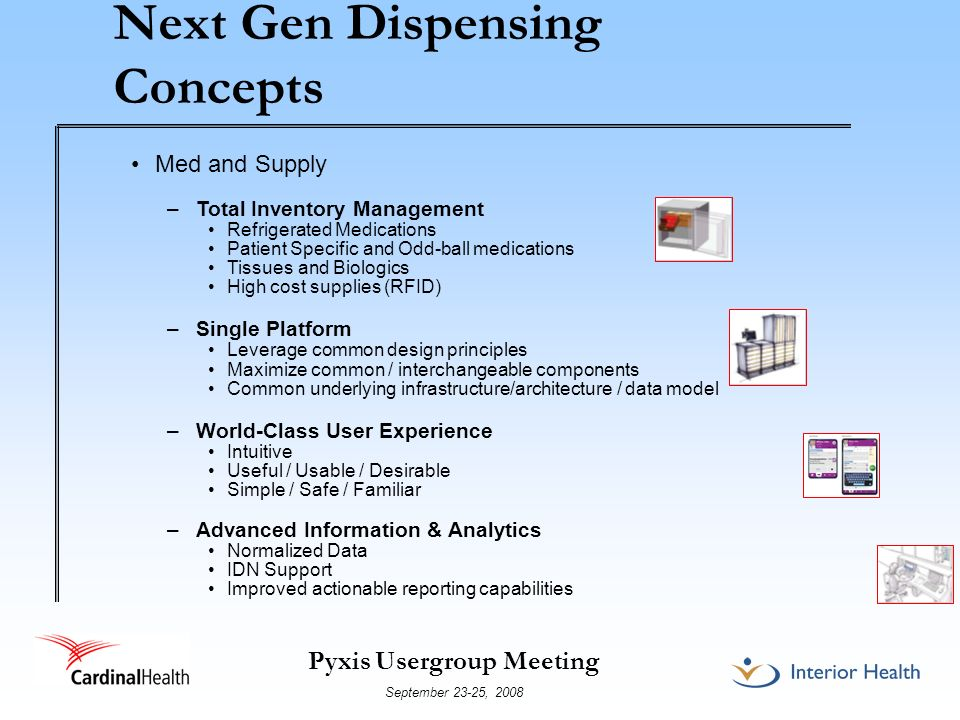 Next Gen Dispensing Concepts