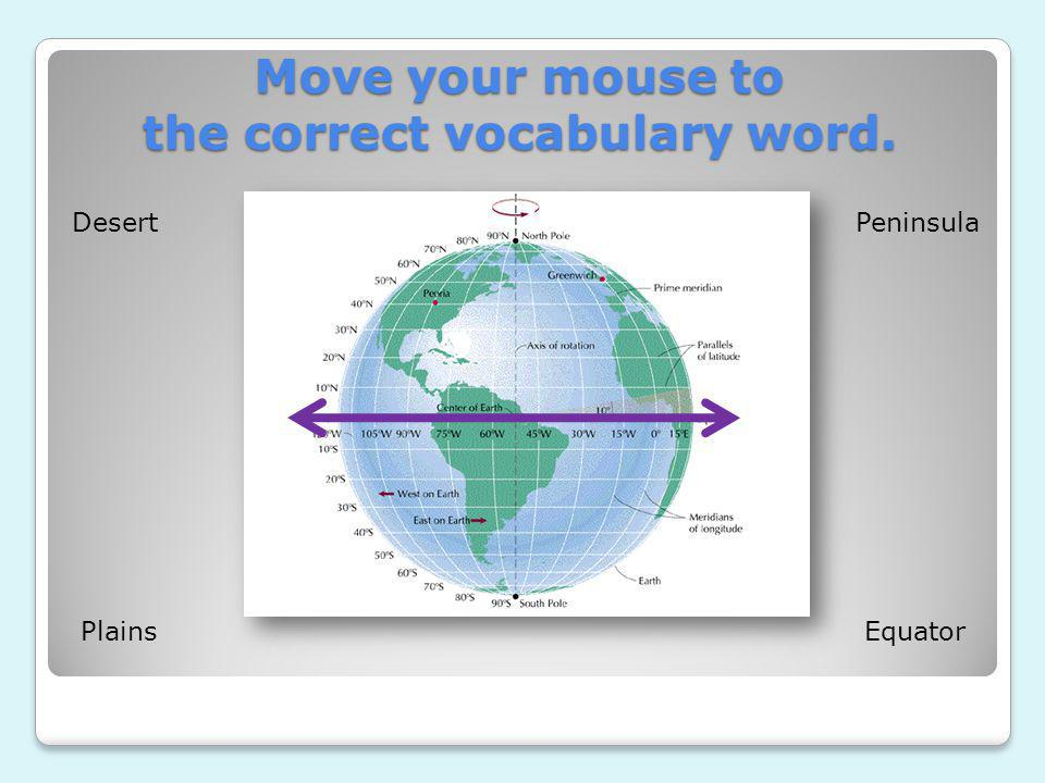 Move your mouse to the correct vocabulary word.