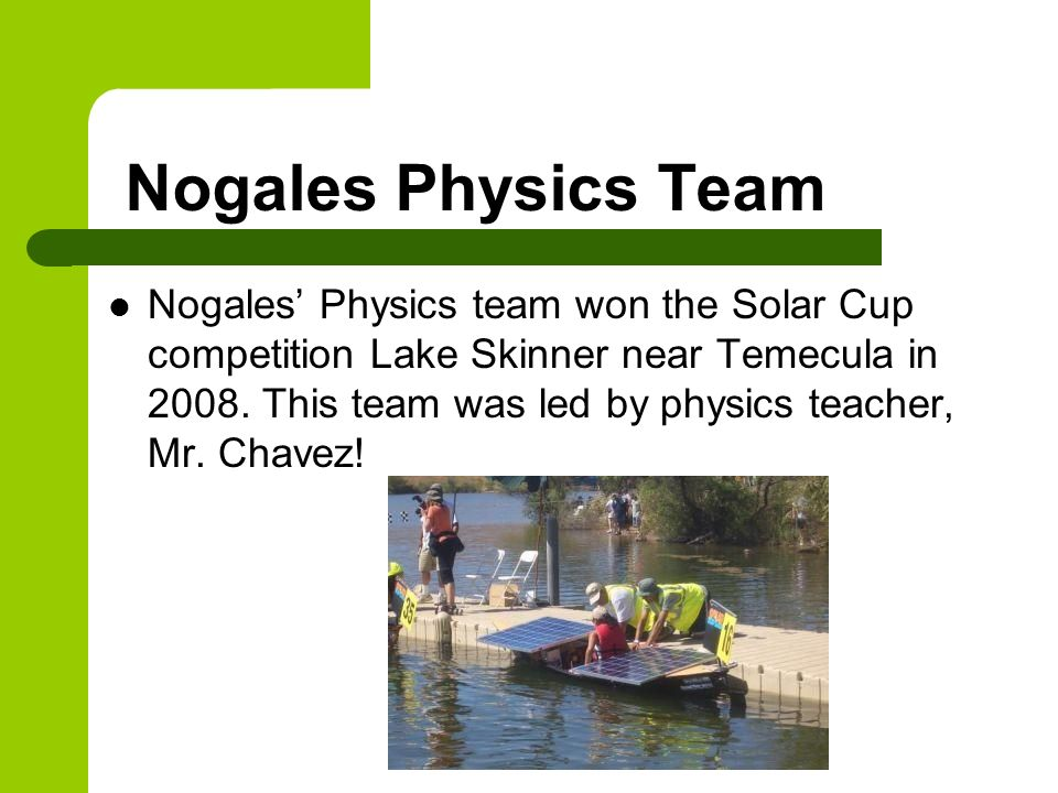 Nogales Physics Team