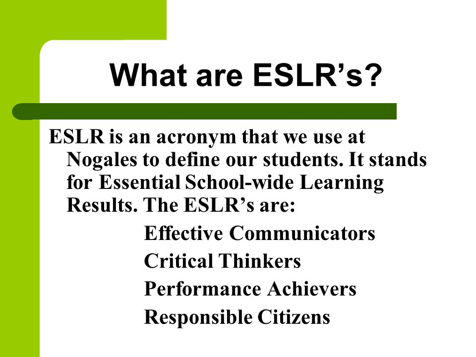 What are ESLR's