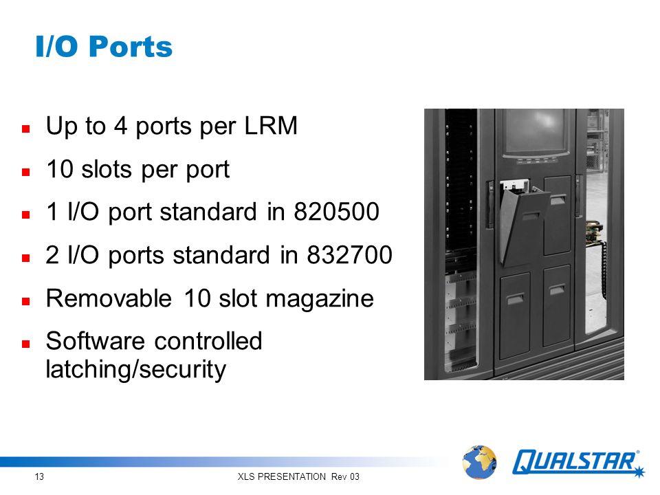 I/O Ports Up to 4 ports per LRM 10 slots per port