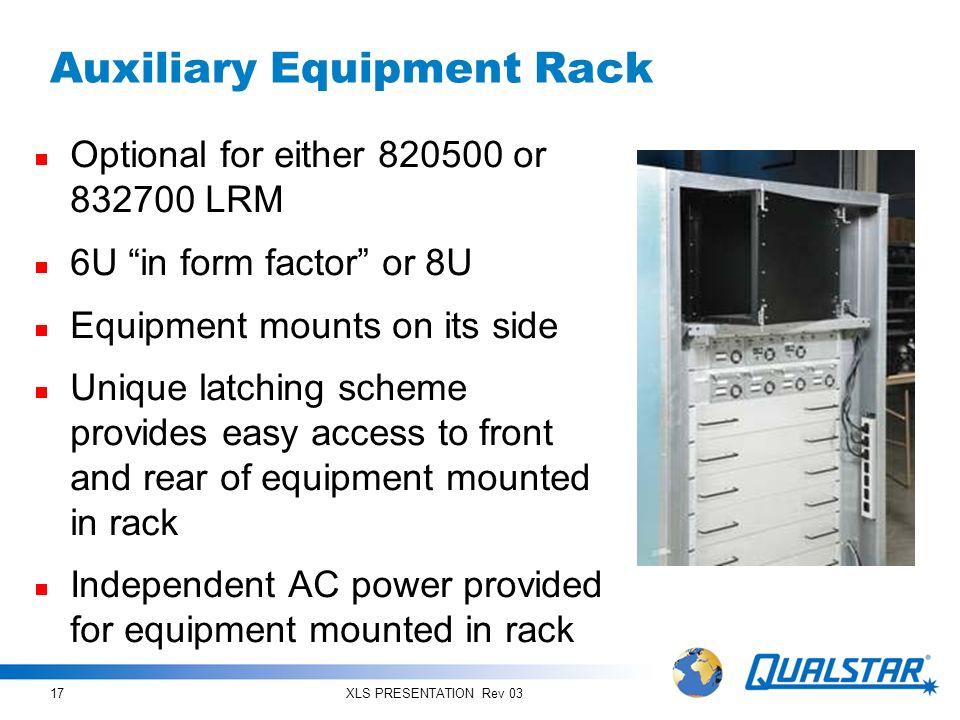 Auxiliary Equipment Rack
