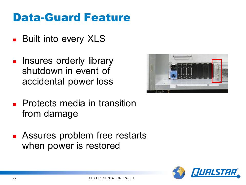 Data-Guard Feature Built into every XLS