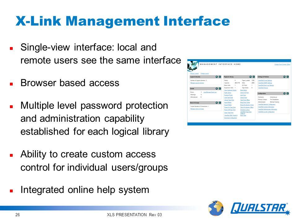 X-Link Management Interface
