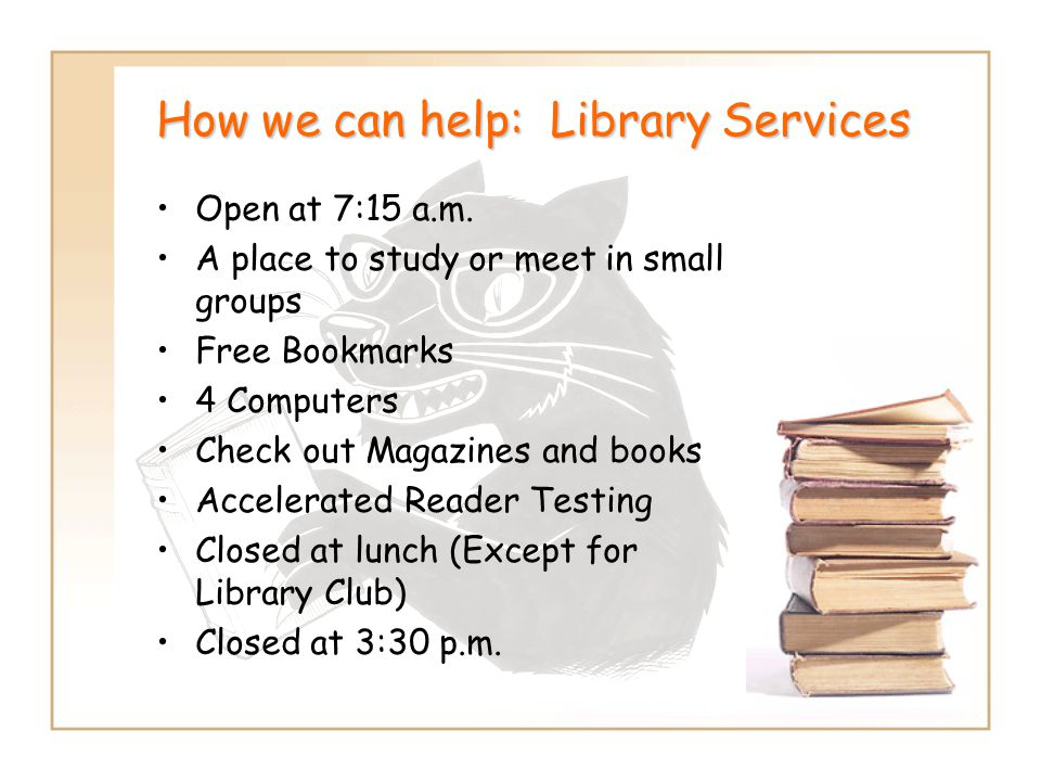 How we can help: Library Services
