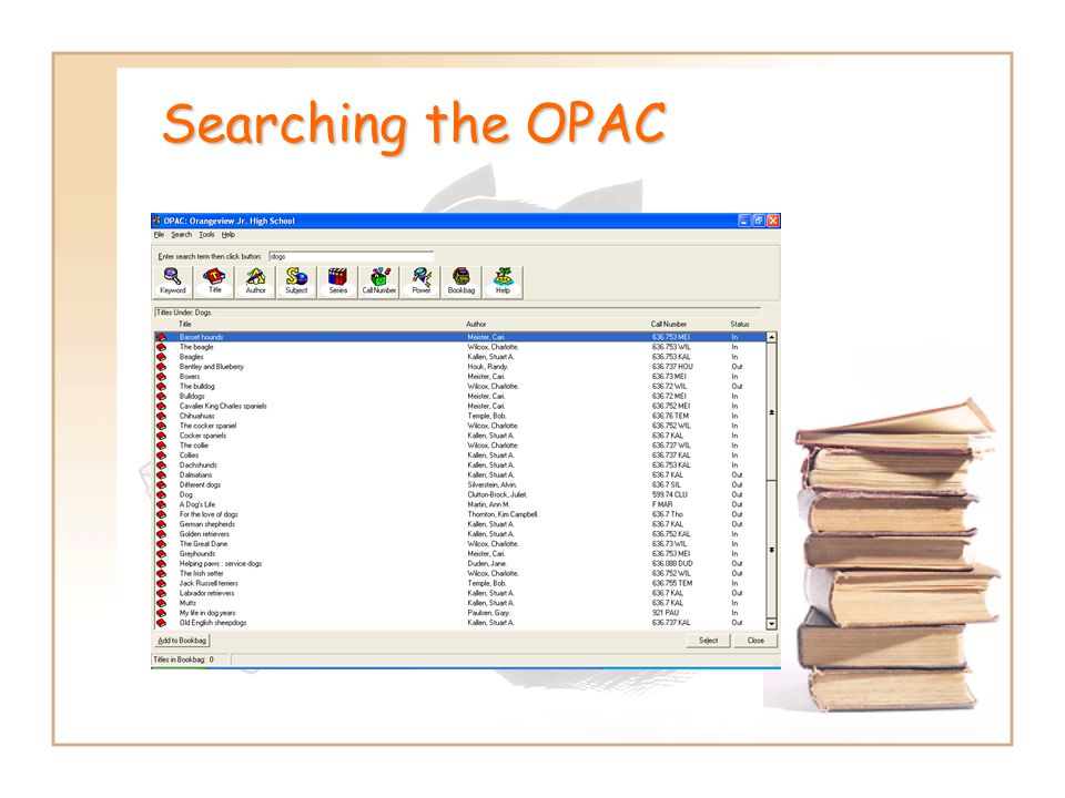 Searching the OPAC