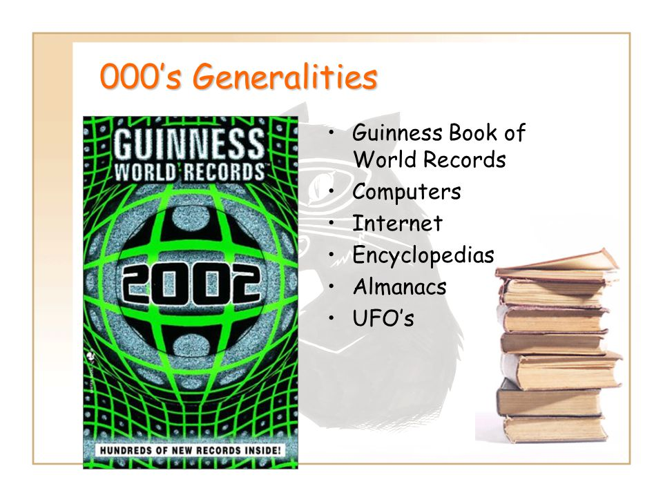 000's Generalities Guinness Book of World Records Computers Internet